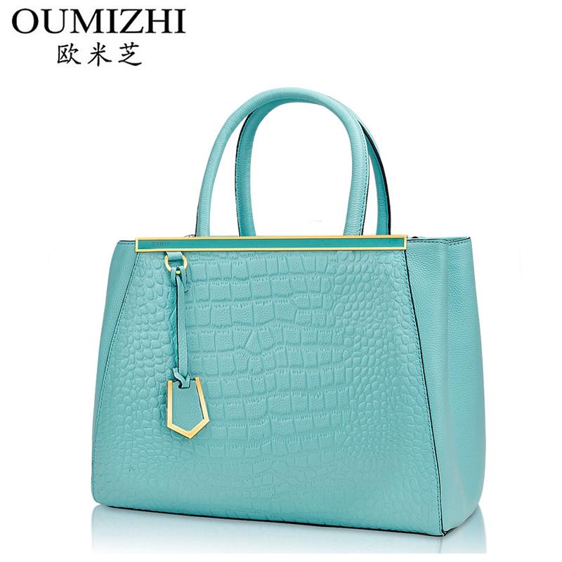 Women's genuine leather handbag 2014 the trend of fashion big bag fashion handbag messenger bag shoulder bag female bag(China (Mainland))