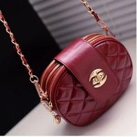 2014 New fashion leather  small bag mobile phone bag  coin purse shoulder bag women 3 fold  zipper messenger bag