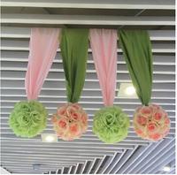25cm Artificial green leaf rose flower balls wedding market hotel ceremony decorations silk flowers AH6935