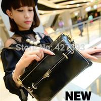 2014 new fashion vintage small handbag wrist clutch purse candy color women's shoulder bag free shipping