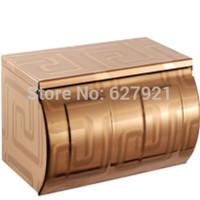Roll box bathroom tissue box laser rose gold stainless steel toilet paper box waterproof paper towel holder