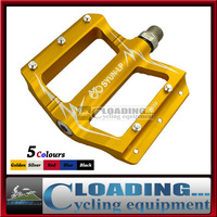 2014 Brand New Cycling Bicycle Forging Pedal MTB Road Super Tread Sealed Bearing With Steel Nails Ultralight Bike Parts Golden
