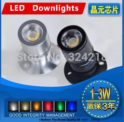 Mini ceiling lamp 1W LED Downlight Spot Cabinet light display counter wall background lamp 110V 220V 12V 24V Warm/cold white(China (Mainland))