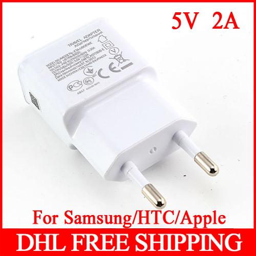 500Pcs/Lot EU Plug 100-240V 2 Dual USB Ports Home Travel Wall AC Power Charger Adapter For Samsung Galaxy S4 S5 Table PC Mp3 Mp4(China (Mainland))
