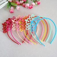 New Baby Girl Princess Colorful Plastic Crown Headbands Headwear Kids children Hair Band  hair accessory Mix Color 1406HE007