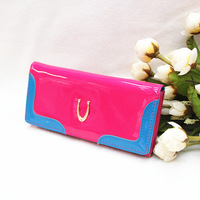 New Summer 2014 Hot Sell Designer Brand PU Fabric Zipper Fashion Shiny Bling leather hand purse for female