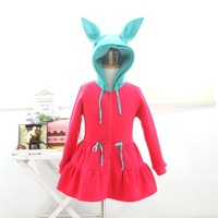 Brand Baby Girl Coats Children Outerwear Jackets Kids Hoodies Cartoon Big Ear Child Fleece Spring New Design Fashion