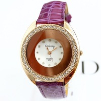 Watches women fashion luxury watch famous Ladies crystal diamonds quartz analog PU leather free shipping