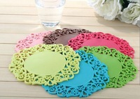 Free postage creative hollow characteristic coasters bowl pad Seckill waterproof circular heat insulation pad tea mat