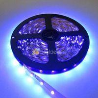 New! DC12V 5M/Lot 3528 SMD 300 Leds Ultraviolet UV 395-405nm Purple Non-Waterproof Flexible LED Strip Light Free Shipping