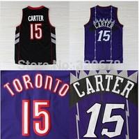 Hot Sell Purple Vince Carter Jersey Toronto #15 Purple Stitched Basketball Jersey Vince Carter Size S-XXL Free Shipping