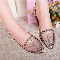 2014 new Korean fashion women ballet flat shoes pointed shoes lace mesh shoes 35-40 size gold silver blue