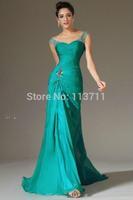 Top Sale Hunter Green Mermaid Dresses Women Formal Elegant Party Dress Chiffon Evening Dresses Long Evening Gown