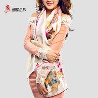 Vintage silk scarf silk scarf mulberry silk scarf elegant design women's long autumn and winter silk scarf