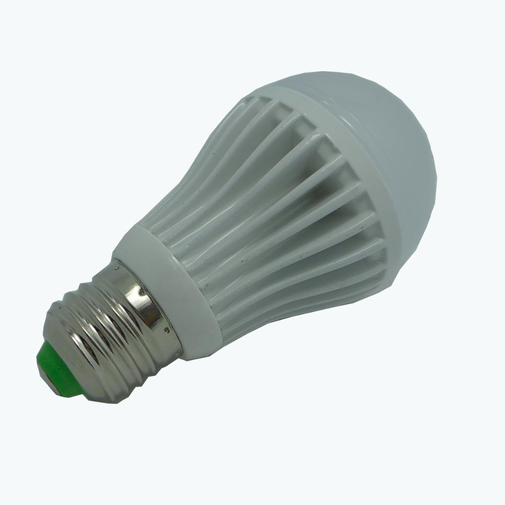 Wasiting E27 5W 500-600 lumen 2700-3500K KD-QP-5W-NBG Warm White Light LED Warm White Light Bulb(China (Mainland))
