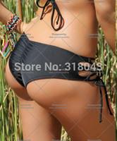 new 2014 women shorts swimsuit brazilian bikini bottom sexy swimwear bow brand biquini crochet cover up swimming large bust