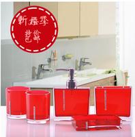 Crystal love five pieces set of bathroom fashion bathroom supplies wash set shukoubei acrylic