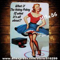[ Mike86 ]  Hokey pokey  Pin-up Girl Metal Plaque Craft PUB Wall art Painting Sign Bar Decor AA-145 Mix order 20*30 CM
