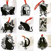 9 designs creative & lovely black cat metal bookmark Wedding favor Party Gift, 18 pcs/lot