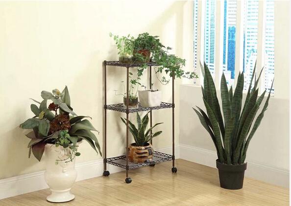 Three layers of the metal rack shelf receive plane living room kitchen ...