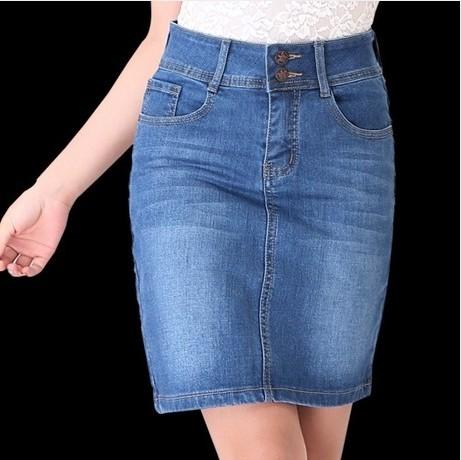VOGUE Hot Sell Stylish Women Water Washed High Quality Slim Denim Skirt Ladies Denim Skirt(China (Mainland))