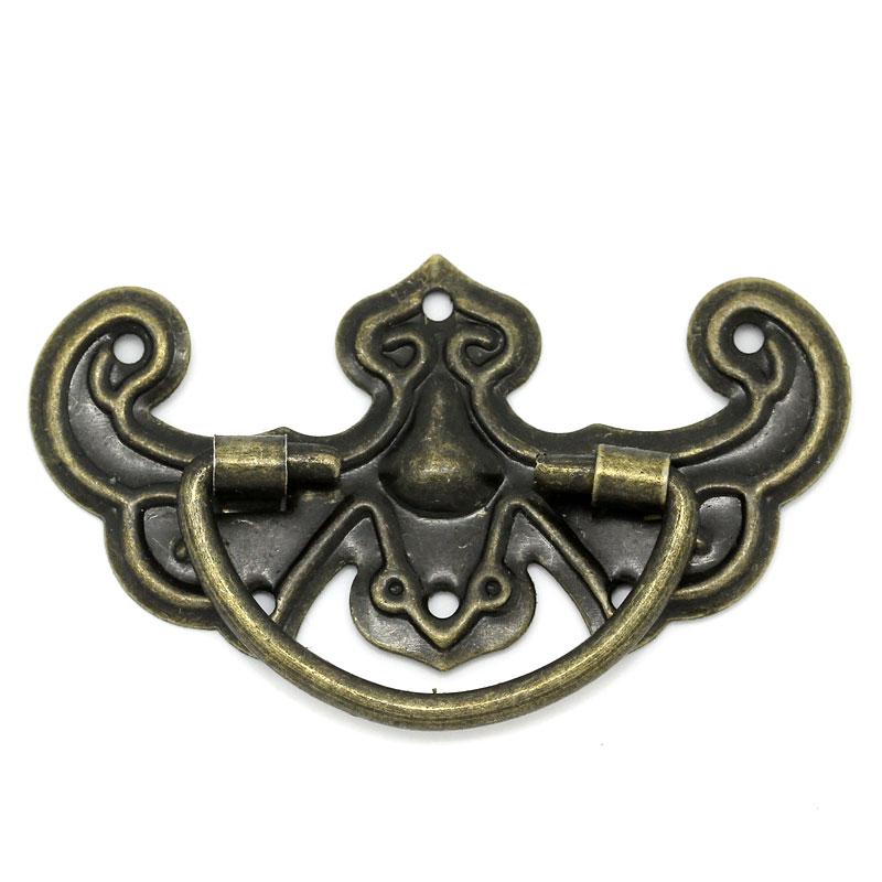 Free Shipping 30PCs Bronze Tone Pattern Drawer Cabinet Desk Door Pull Handle Knob Furniture Hardware(China (Mainland))