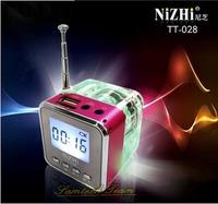 Colorful Light Nizhi TT028 Music Speaker Support Micro SD/TF Card + FM Radio Portable Mini Radio Speaker 10pcs/lot Free Shipping