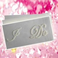 Freeshipping !  shoes decoration pearl wedding sticker for I DO /Me Too