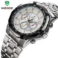 Top Sale 2014 WEIDE Watches Men Military Quartz Sports Diver Watch Full Steel Luxury Brand Fashion Army Wristwatch Free Shipping