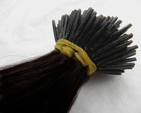 Hot Brazilian virgin human hair color 1b# keratin Stick tip Prebonded hair extensions