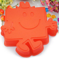Free Shipping Food-grade Silicone Cake Mold Ice Molds Mr Strong Pudding Mould Household Supplies Silicone Mold Cake Tools Supply