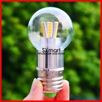 220V E27/E14 3W 5W 7W 9W LED bulb lamp, transparent lighting energy-saving lamp, crystal pendant light