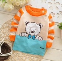 Free shipping 2014 Spring and Autumn baby boys and girls cartoon knitted sweater,children pullovers,kid sweater#Z447B