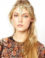 New 2014 Fashion 6pcs Golden Vintage Pearl Tiaras Headband Head Chain Hair Bands Hair Accessories TS359