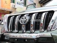 2014 Toyota Land Cruiser Prado FJ150 ABS Chrome Front Grille Around Trim Racing Grills Trim 6PCS