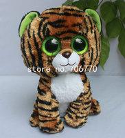 "IN HAND! 2014 NEW ~Ty Original  beanies Boo Big eyes Animal ~STRIPES TIGER 10"" Medium  Plush doll  Stuffed TOY BEST free ship"