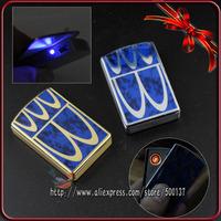 Unique Unveil Design W/LED Windproof Flameless Cigar Cigarette Rechargeable USB Lighter