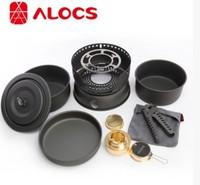ALOCS 10pcs Picnic pot /  PAN sets / picnic stove alcohol stove.
