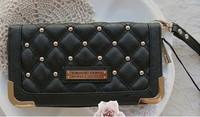 KK nkardashian kollection new arrival ling rivets women's wallet KK bag Day Clutches10pcs/lot
