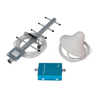 In Stock GSM 3G WCDMA 900MHz Cell Phone Signal Amplifier 70db High Gain with 10m Cable Antenna