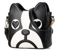 Women Fashion PU Leather Cute Cartoon pattern dog head Shoulder messenger Bag Handbag Bolsa saco caberca Mulheres cao
