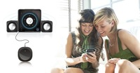 2014 Hot sale Free shipping- Black Super mini Portable Stereo Bluetooth Speaker for iphone 4 4s 5G 5 5S iphone5 iphone4