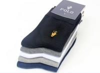 10 Pairs = 20 Pcs 2015 New Autumn Men's Solid Dress Socks Pure Cotton Brand Sock Man HJC POLO Socks Wholesale socks for man