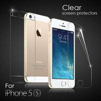 For Apple iPhone 5S 5 5G Clear Screen Protector Guard Film Front and Back A+B 4 in 1 No Retail Packing Free Shipping 3sets/lot