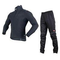 SOBIKE Fleece Thermal/Insulated, Windproof Jacket-Alien Black & Fleece Pants-Gelimo Cycling Suits Winter Warm Men
