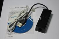 USB 2.0 Fax Modem External 56k Supports Window2000/XP/Vista/Win7&Advanced Power Management