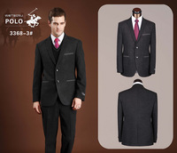 Free Shipping 100% WOOL Suiting Jacket+pant Quality Thick Business Casual Suit For Men One Button For terno Winter POILO3368