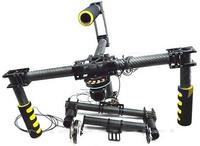 Carbon Fiber DSLR 3 Axis Handle Brushless Gimbal Camera Mount w/motors Kit FPV