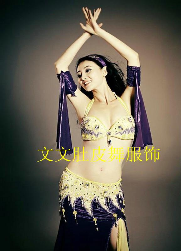 A428 belly dance set quality costume set performance wear customize Danse Du Ventre(China (Mainland))