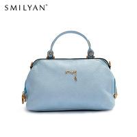 Smilyan new 2014 original rivet PU leather women handbags vintage and casual shoulder cross body bags women messenger bags